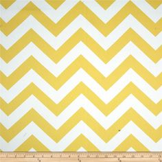 RCA Chevron Blackout Drapery Fabric Lemon from @fabricdotcom  This blackout fabric is amazing! Keep your home decor under wraps with insulated blackout fabric for your window treatments, this blackout fabric can be used as draperies and drapery lining. Blackout fabric features innovative fabric construction, it has a soft hand and drapes beautifully for a natural look. Blackout fabric not only blocks the light, it insulates against heat and cold saving you money and energy while providing…