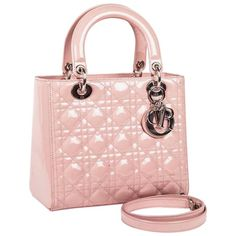 08d09dd09b Christian Dior Top Handle Bag - Dior Lady Dior Bag Varnished Quilted Leather  Leather Christian Dior