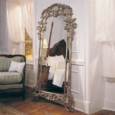 American Drew 721-065 Jessica McClintock Home Floor Mirror, Heirloom | Decor Universe | $997.50