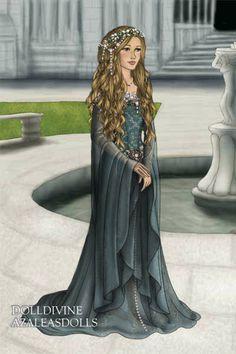 Nefeldine ~ by Vondura ~ created using the LotR Hobbit doll maker   DollDivine.com