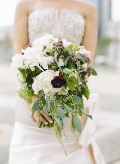 Lush Bridal Bouquet | Josh Gruetzmacher | Theknot.com