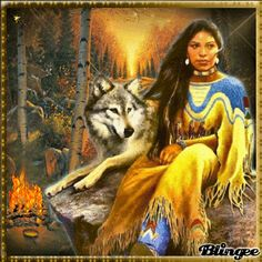 An Inner Journey: The Moon, Mythology, and You: La Loba, The Woman Wolf Inspired by Native American Wolf, Native American Paintings, Native American Pictures, American Indian Art, Native American History, Native American Fashion, American Indians, American Women, Indian Wolf