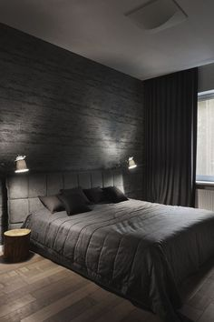 7 Top Cool Tips: Industrial Minimalist Bedroom Interior Design modern minimalist living room wood.Minimalist Bedroom Small Floors minimalist home design loft. Black Bedroom Decor, Home Decor Bedroom, Bedroom Bed, Warm Bedroom, Master Bedrooms, Black Master Bedroom, Black And Grey Bedroom, Black Bedroom Design, Men Home Decor