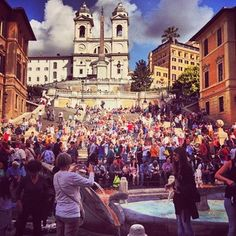 Because the Spanish Steps are a decent place for a study break. | 39 Reasons Studying Abroad In Italy Ruins You For Life
