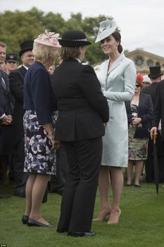 The Duchess of Cambridge paired her suave and pared-back look with a pair of nude heels fo...