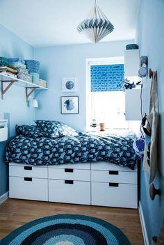 Før & efter: Småt & sejt drengeværelse - Se værelset her - ALT. Small Room Bedroom, Small Rooms, Kids Bedroom, Bedroom Decor, Bedroom Ideas, Cool Teen Bedrooms, Trendy Bedroom, Teenage Room, Small Teenage Bedroom