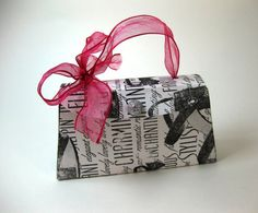 Purse Shape Paper Gift Box Customizable by QueenBeeInspirations