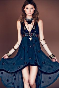Bohemian Dress From Free People's Sacred Geometry Lookbook
