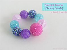 I want to make some of these for my littles... Love the Chunky Beads.  Tutorial from theDIYDreamer.com