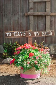 to have and hold wedding sign