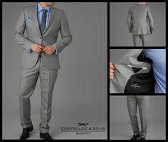 Paul Costelloe Carndonagh Silver Semi-Plain Slim Fit Suit http://www.paulcostelloeman.co.uk/catalogue/carndonagh-silver-semi-plain-slim-fit-suit/index.html