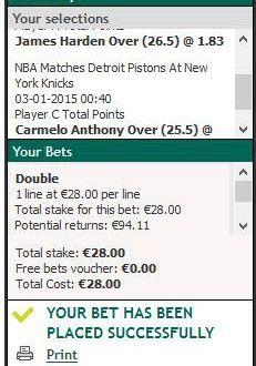 Biletul zilei : Dubla marcatori in NBA