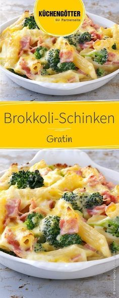 Rezept für Brokkoli-Schinken-Gratin, auch ein tolles Gericht