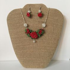 A personal favorite from my Etsy shop https://www.etsy.com/listing/260647525/rose-vine-necklace-with-matching