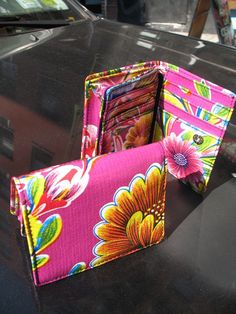 Oil Cloth Trifold Wallet