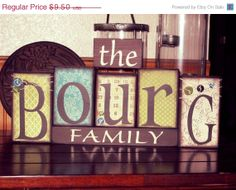 ON+SALE+Family+Blocks+Wooden+Block+Set+by+KDragonflyDesigns,+$7.79