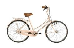 Vintage Skinner Bicycle Tan Seat With Front Basket