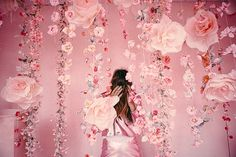 Salt Lake City - instillation by - Darby Society Diy Backdrop, Paper Flower Backdrop, Backdrops, Pink Love, Red And Pink, Pretty In Pink, Rainbow Aesthetic, Pink Aesthetic, Creative Photoshoot Ideas