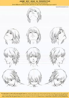 Anime Head Angles Perspective by *Lairam on deviantART