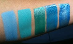 This vs. That - Comparing Brands side by side (Picture Heavy) - teal turquoise Face Painting Colours, Body Painting, Paint Swatches, Color Swatches, Aqua, Teal, Turquoise, Side By Side Pictures, Paint Supplies