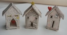 Dream Houses Ceramic House Sculptures by MadeleineBurkeDesign  I will make my own Tehouses
