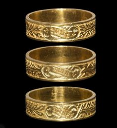 Medieval Gold 'All My Heart' Posy Ring, found at Corfe Castle, England, War of the Roses era, 14th-15th Century
