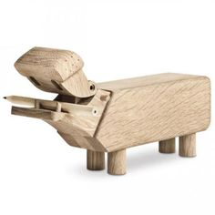 Flusspferd Kay-Bojesen-Denmark-Flusspferd-Holzfigur-Holztier-Geschenkidee-Eichenholz