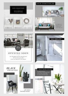 Instagram Design, Free Instagram, Interior Design Instagram, Book Design Layout, Page Design, Banner Instagram, Organizar Instagram, Publication Facebook, Catalog Design