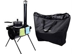 Portable Military Camping Hunting Ice Fishing Cook Wood Stove Tent Heater w Bag >>> You can get more details by clicking on the image.