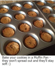 Bake cookies in muffin tins  they will not spread out and  still be fully