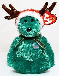 2002 Holiday Teddy - Bear - Ty Beanie Babies