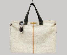 Shoulder Bags – Large Linen Tote Bag – a unique product by Askida via en.DaWanda.com