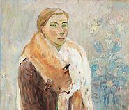 "Tove Janson Self-portrait, ""Lynx Boa"" (1942)"
