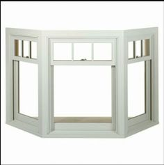 Bay window with panes on top