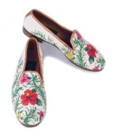 Hibiscus Needlepoint Loafer