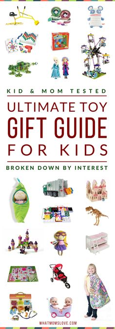 Massive Toy Gift Guide For Kids   Looking for a great gift for your child? Our guides feature only the best products that have been kid-tested & mom approved - the ones they'll return to play with over & over again. Based on interests like: Dolls, Princesses, Car/Trucks, Building, etc. Perfect for toddlers to tweens, girls or boys, for Holidays, birthdays and special occasions. Click for fun present ideas with specific product recommendations, or pin for later   from What Moms Love via…