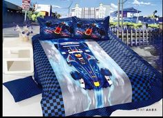 racing bedroom accessories - Google Search Racing Bedroom, Race Car Bed, Duvet, Bedding, Bedroom Accessories, Comforters, Toddler Bed, Blanket, Google Search