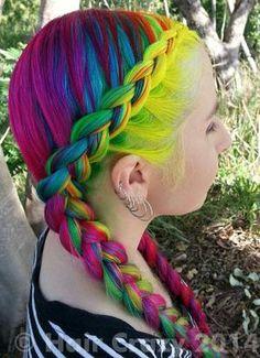 Tree -   - Apple Green   - Atlantic Blue   - Bright Daffodil   - Cerise   - Fire   - Flamingo Pink   - Fluorescent Glow   - Mandarin   - Pil...  #haircrazy