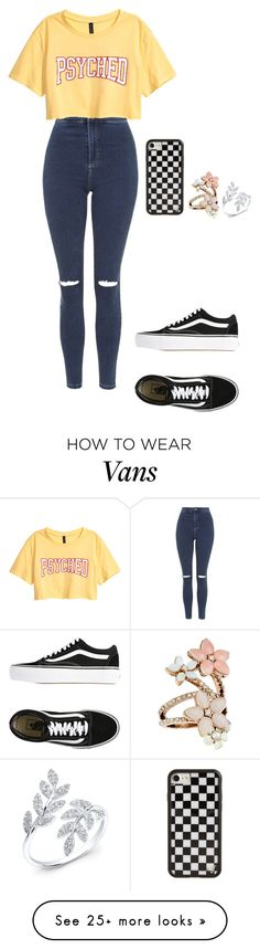 """9.10am"" by cathxwut on Polyvore featuring Topshop, Vans, Wildflower, Accessorize and Anne Sisteron"