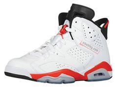 Youth Big Boys Air Jordan 6 White Infrared Black 2014 Retro 384664 123 Air  Jordan Vi 01ace0c38