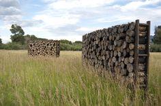 Schematic Proposal / Entry Markers by Artemis Institute Landscape Art, Landscape Architecture, Landscape Design, Livingston, Garden Art, Garden Design, Artemis, Log Wall, Fence Screening