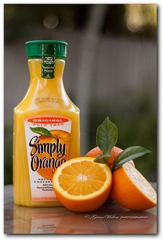 product photography- product with compliment (oranges)