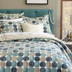 Wanted to show you this one too....  Dots + Spots Duvet Cover + Shams