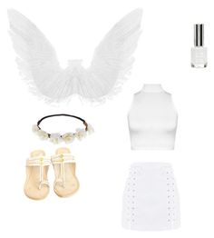 """""""Cute angel costume"""" by lizzy-sangster on Polyvore featuring Topshop and WearAll"""