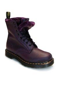 Dr. Martens - 8 eye - Purple - with faux fur