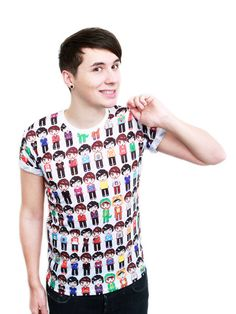 Pixel people T-Shirt – Dan & Phil Shop  WILL SOMEONE PLEASE GET THIS FOR ME