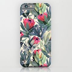 Buy Painted Protea Pattern by Micklyn as a high quality iPhone & iPod Case. Worldwide shipping available at Society6.com. Just one of millions of products…