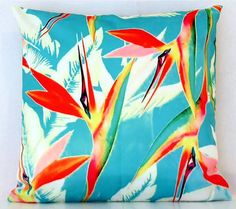 Tropical birds of paradise cushion cover perfect for by CitraHome