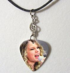 TAYLOR SWIFT Necklace  Sexy Guitar Pick necklace by EeksUniques, $9.50