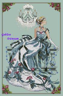 Goblen Dünyam-Kanaviçe: Melek ve Peri temalı kanaviçe modelleri